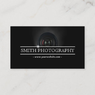 photographer modern camera lens photography business card