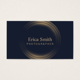 Photographer Modern Gold Circles Photography Business Card
