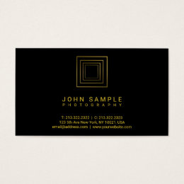 Photographer Modern Gold Look Photography Luxe Business Card