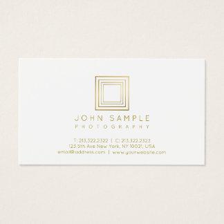 Photographer Modern Gold Look Photography Stylish Business Card