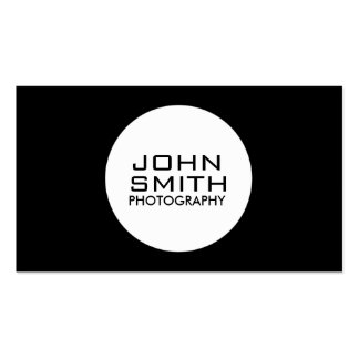 Photographer Modern Professional Plain Simple Double-Sided Standard Business Cards (Pack Of 100)