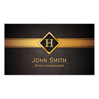 Photographer Monogram Gold Label Elegant Business Card