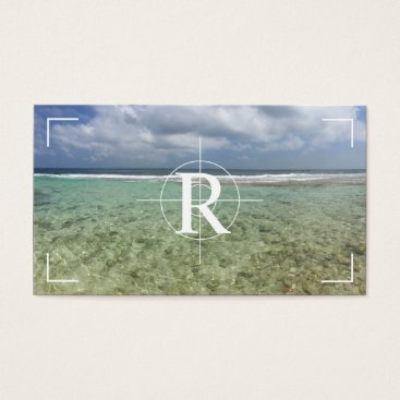 Beach Themed Photographer Monogram Photo Showcase Photography Business Card