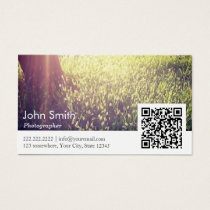 Photographer Nature Photography QR code Business Card