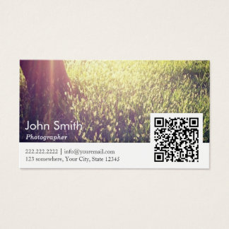 Nature photographer business cards templates zazzle photographer nature photography qr code business card reheart Image collections