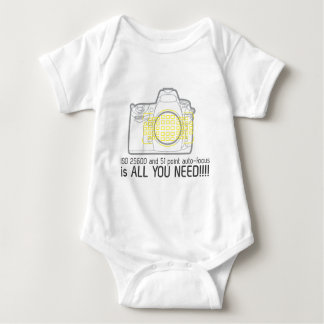 Photographer Nikon D700 is all you need Baby Bodysuit
