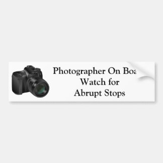 Photographer On Board #2 Bumper Sticker