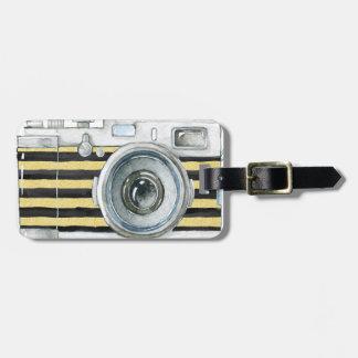 Photographer on Duty vintage camera design Bag Tag