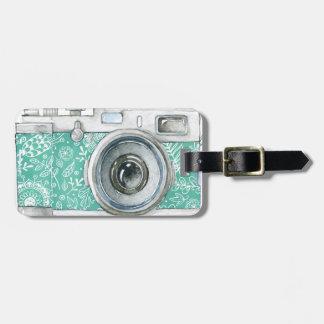 Photographer on Duty vintage camera design Luggage Tag