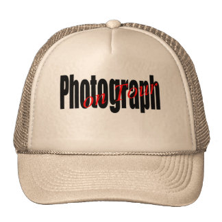 Photographer on route trucker hat