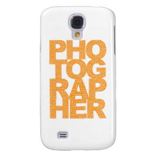 Photographer - Orange Text Samsung Galaxy S4 Case