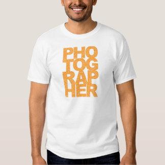 Photographer - Orange Text Tee Shirt