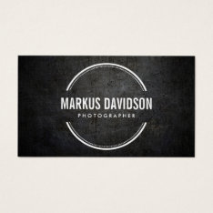Photographer Photography Camera Lens Business Card at Zazzle
