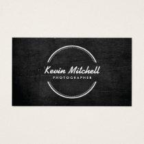 Photographer, Photography Logo on Black Wood Business Card