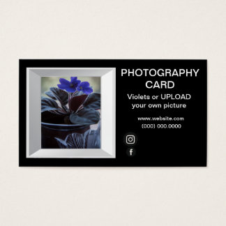 Photographer Picture Frame Violets Picture Business Card