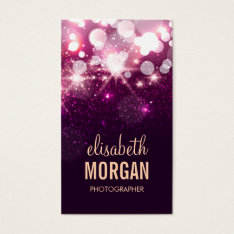 Photographer - Pink Glitter Sparkles Business Card at Zazzle