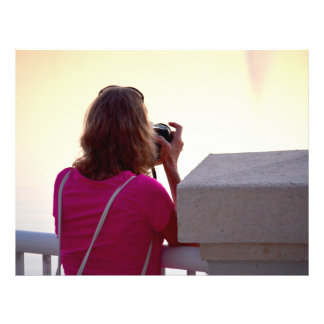 photographer pink shirt female back personalized flyer