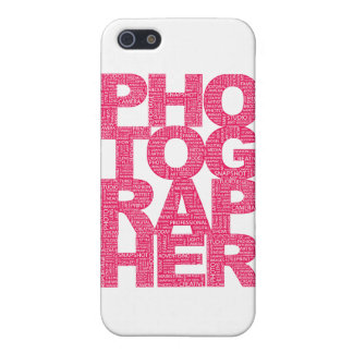 Photographer - Pink Text Cover For iPhone SE/5/5s