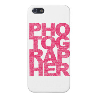 Photographer - Pink Text Cover For iPhone 5