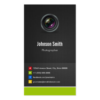 Photographer - Premium Creative Innovative Double-Sided Standard Business Cards (Pack Of 100)