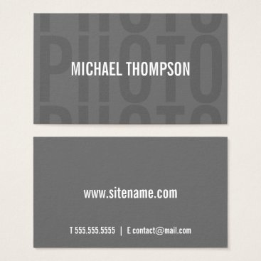 manadesignco Photographer Professional Modern Bold Grey Business Card