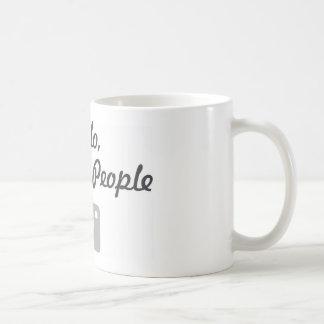 Photographer promotion-  hello, I shoot people Coffee Mug