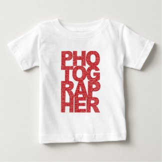 Photographer - Red Text Baby T-Shirt