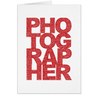 Photographer - Red Text Card
