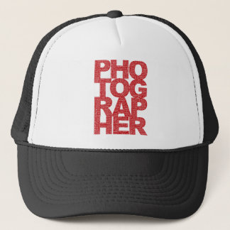 Photographer - Red Text Trucker Hat