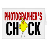 PHOTOGRAPHER'S CHICK CARDS