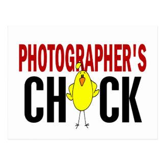 PHOTOGRAPHER'S CHICK POSTCARD