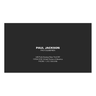 Photographer simple business card