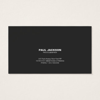 Photographer simple business card