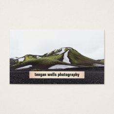 Photographer Simple Plaque Photography Card at Zazzle