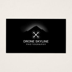 Photographer Skyline Aerial Video & Photography Business Card at Zazzle