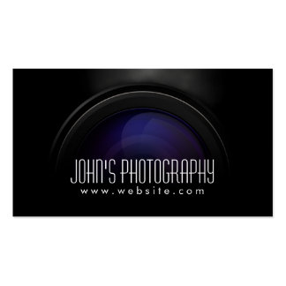 Photographer Smoking Camera Lens Professional Double-Sided Standard Business Cards (Pack Of 100)