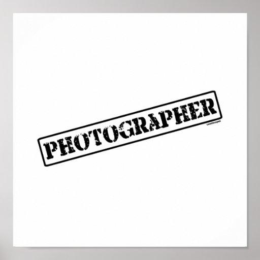 Photographer Stamp Print