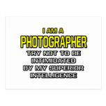 Photographer...Superior Intelligence Postcards