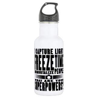 Photographer Superpowers Water Bottle