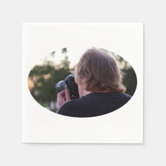photographer taking picture male back of head disposable napkins