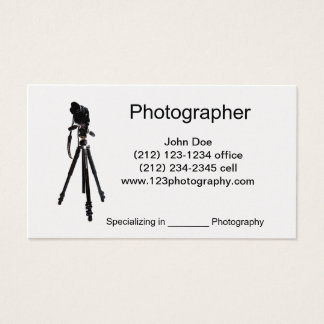 Photographer-Tripod Business Card