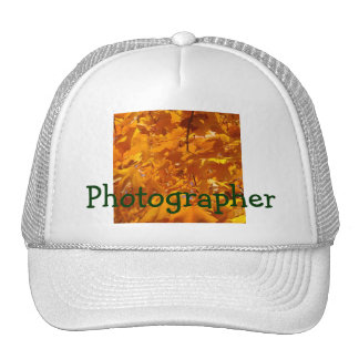 Photographer trucker's hats Golden Autumn Leaves
