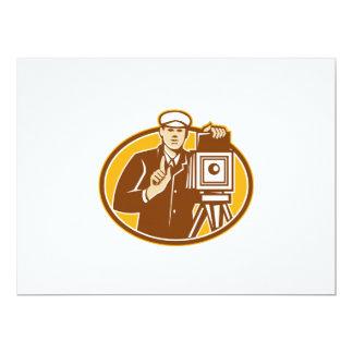 Photographer Vintage Camera Front Retro Personalised Invite