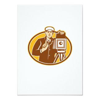 Photographer Vintage Camera Front Retro 11 Cm X 16 Cm Invitation Card