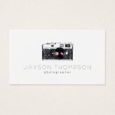 Photographer Vintage Camera Illustration Logo Business Card at Zazzle