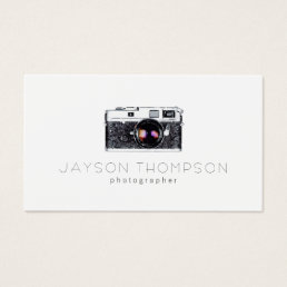 Photographer Vintage Camera Illustration Logo Business Card