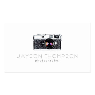 Photographer Vintage Camera Illustration Logo Double-Sided Standard Business Cards (Pack Of 100)