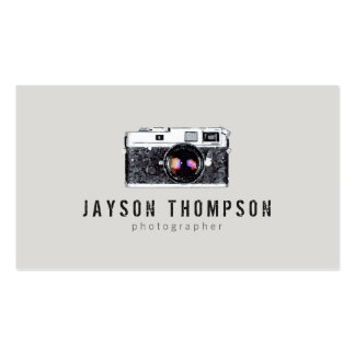 Photographer Vintage Camera Illustration Logo II Double-Sided Standard Business Cards (Pack Of 100)