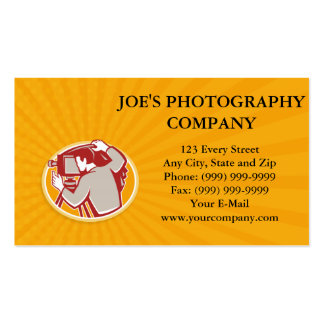 Photographer Vintage Camera Rear Retro Double-Sided Standard Business Cards (Pack Of 100)