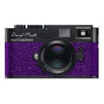 Photographer violet Business Double bed card